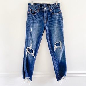 Gap Best Girlfriend High Rise Distressed Jeans